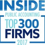 Inside Public Accounting Top 300 National Firm 2017 | Dalby Wendland & Co. | CPAs | Business Advisors | Colorado