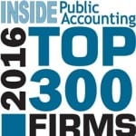 Inside Public Accounting Top 300 National Firm 2016 | Dalby Wendland & Co. | CPAs | Business Advisors | Colorado