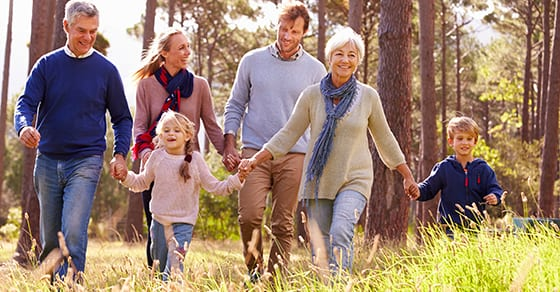 multi-generational-family-walking-together