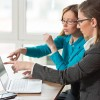 One to One Business Meeting-Financial adviser with a client