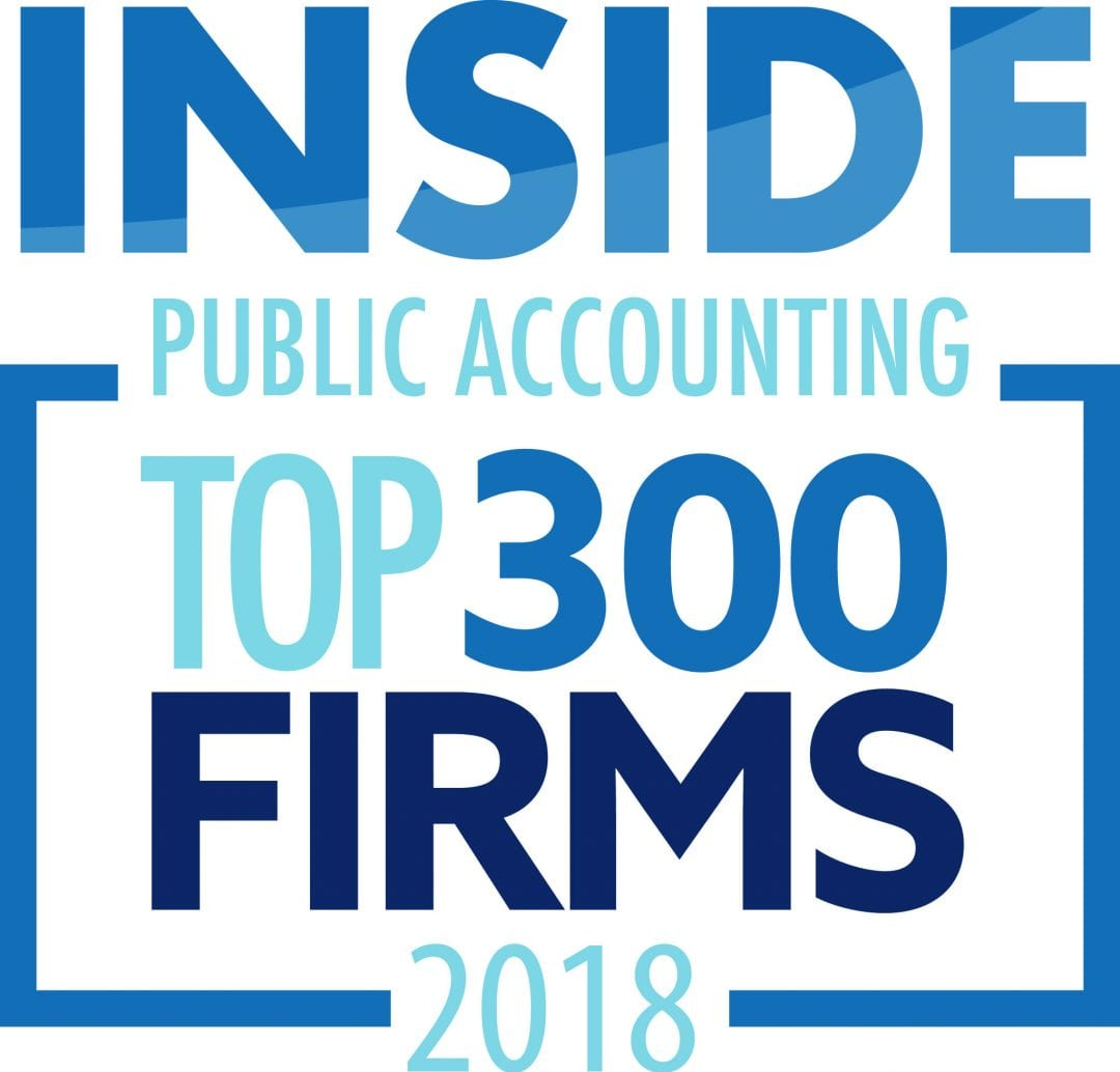 Inside Public Accounting Top 300 National Firm 2018 | Dalby Wendland & Co. | CPAs | Business Advisors | Colorado