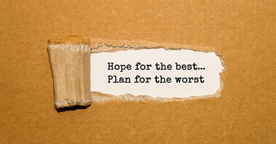 The text Hope for the best Plan for the worst appearing behind torn brown paper | business turnaround strategy | Dalby Wendland & Co | CPAs | Business Advisors | Grand Junction CO | Glenwood Springs CO | Montrose CO