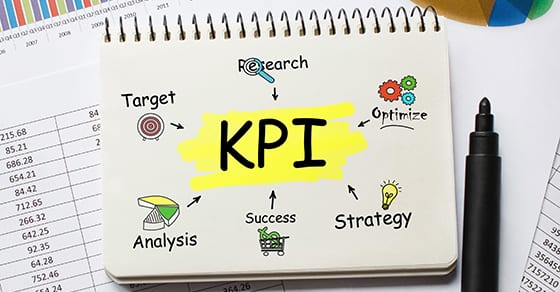 Notebook with Toolls and Notes about KPI,concept | 4 Good KPIs for Midyear Checkup | Dalby Wendland & Co | CPAs | Business Advisors | Grand Junction CO | Glenwood Springs CO | Montrose CO