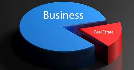 illustration of a blue pie chart with a red slice cut away | Succession Planning: Separate Your Business from the Real Estate | Dalby Wendland & Co. | CPAs | Business Advisors | Grand Junction CO | Glenwood Springs CO | Montrose CO