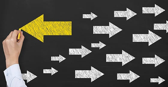 yellow arrow pointing to new way | discontinued operations | Dalby Wendland & Co | CPAs & Business Advisors | Colorado