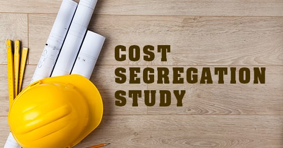 construction hat and plans with words cost segregation study | What is a cost segregation study? | Dalby Wendland & Co. | CPAs & Business Advisors | Grand Junction CO | Glenwood Springs CO | Montrose CO