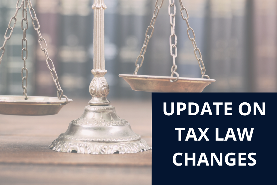 scales of justice and words update on tax law changes | Further Consolidated Appropriations Act 2020 | Dalby Wendland & Co. | CPAs | Business Advisors | Grand Junction CO | Glenwood Springs CO | Montrose CO