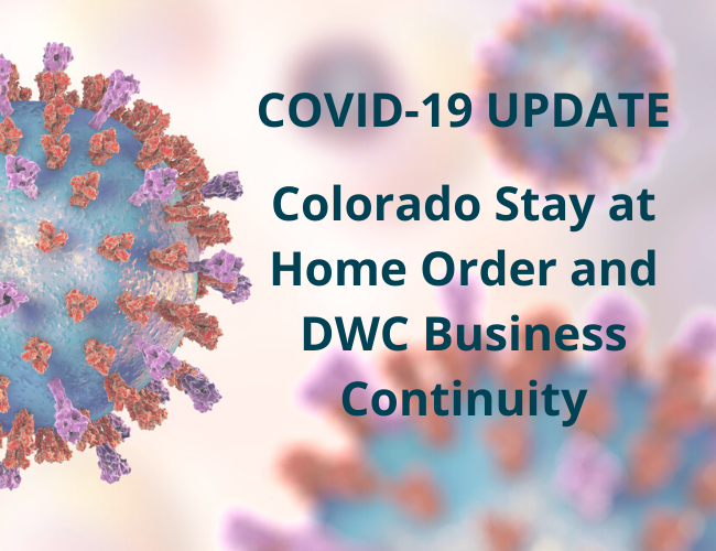 COVID-19 UPDATE Colorado Stay at Home Order - DWC Business Continuity   Dalby Wendland & Co.,   CPAs & Business Advisors   Grand Junction CO   Glenwood Springs CO   Montrose CO