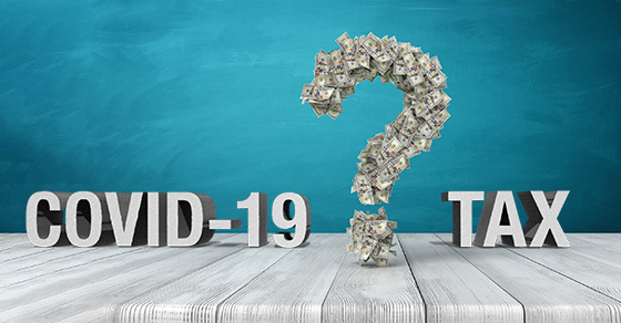 question mark with words COVID-19 and tax | Some Common COVID-19 Tax Q&A's for Individuals | Dalby Wendland & Co | CPAs | Business Advisors