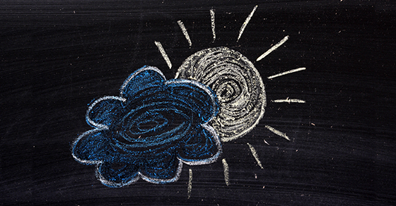 chalkboard with sun and cloud drawn on it | Small Business Reorganization Act - Subchapter V | Dalby Wendland & Co. | CPAs & Business Advisors | Grand Junction CO | Glenwood Springs CO | Montrose CO