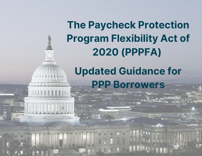 picture of the White House and Paycheck Protection Program Flexibility Act of 2020 Updated Guidance for PPP Borrowers | Dalby Wendland & Co | CPAs & Business Advisors | Grand Junction CO | Glenwood Springs CO | Montrose CO