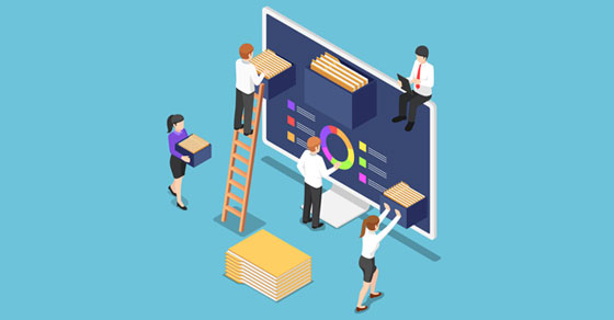 cartoon image of office workers organizing documents and records | Keep Good Records for Tax Deductions and IRS Audits | Dalby Wendland & Co. | CPAs & Business Advisors | Grand Junction CO | Glenwood Springs CO | Montrose CO