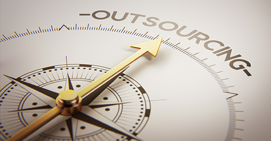 compass pointing to the word outsourcing | Outsource Your Finance & Accounting | Dalby, Wendlnad & Co. | CPAs & Business Advisors | Grand Junction CO | Glenwood Springs CO | Montrose CO