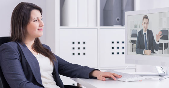 business woman on a video call with business partner | Dalby Wendland & Co. | CPAs & Business Advisors | Grand Junction CO | Glenwood Springs CO | Montrose CO