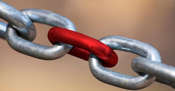 chain with weak link | Manage Your Supply Chain Risks | Dalby Wendland & Co. | CPAs & Business Advisors | Grand Junction Colorado | Glenwood Springs Colorado | Montrose Colorado