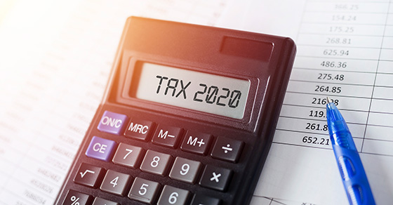calculator with words tax 2020 | Dalby, Wendland & Co. | CPAs & Business Advisors | Grand Junction CO | Glenwood Springs CO | Montrose CO