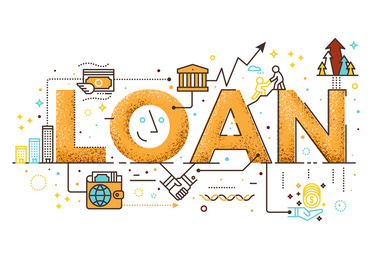 illustration of the word loan surrounded by small business icons | Dalby Wendland & Co | CPAs & Business Advisors | Grand Junction CO | Glenwood Springs CO | Montrose CO