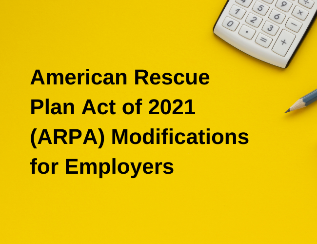 calculator and pencil sitting on background with words American Rescue Plan Act of 2021 Modifications for Employers | Dalby Wendland & Co. | CPAs & Business Advisors | Grand Junction CO | Glenwood Springs CO | Montrose CO