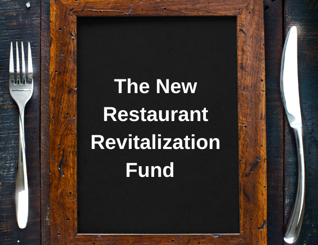 table setting with fork and knife and words the new restaurant revitalization fund   Dalby Wendland & Co.   CPAs & Business Advisors   Grand Junction CO   Glenwood Springs CO   Montrose CO