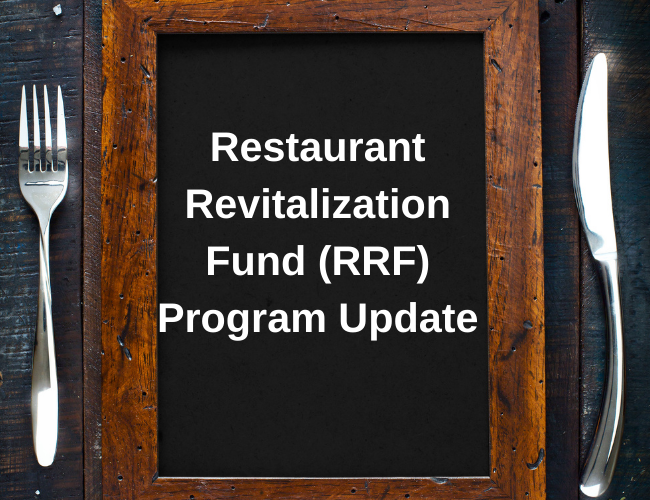 table setting with fork and knife and chalkboard menu | restaurant revitalication fund program update | Dalby Wendland & Co. | CPAs & Business Advisors | Grand Junction CO | Glenwood Springs CO | Montrose CO