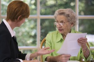 business professional providing estte planning guidance to woman