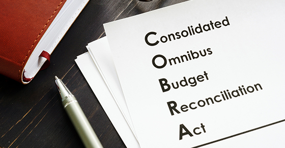 COBRA Consolidated Omnibus Budget Reconciliation Act on the desk | Dalby Wendland & Co. | CPAs & Business Advisors | Grand Junction CO | Glenwood Springs CO | Montrose CO