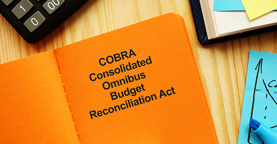 IRS rule book for COBRA insurance